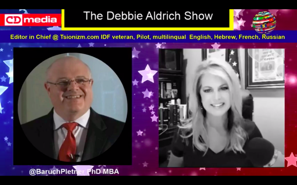 Debbie Aldrich Asks Tsionizm Editor Baruch Pletner - Are Jew Leaving The Democrat Party?