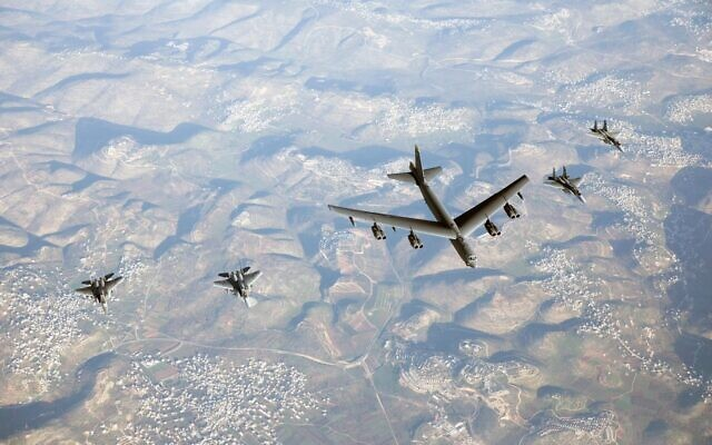 Israeli Jets Escort American B-52s During Flyby, In Show Of Force To Iran